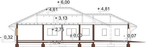 Projekt domu DM-6604 B - przekrój