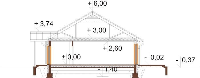 Projekt domu DM-6721 - przekrój