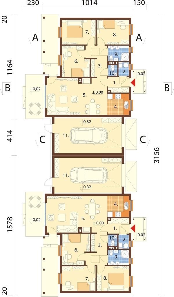 Projekt domu DM-6721 - rzut