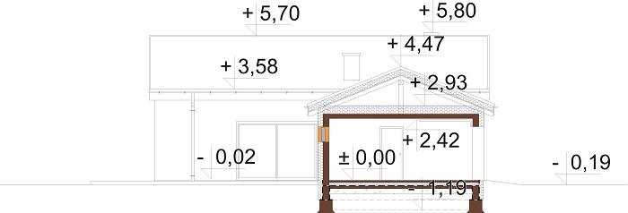 Projekt domu DM-6732 - przekrój