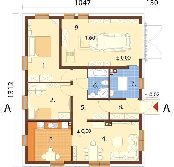 Projekt domu DM-6733 - rzut
