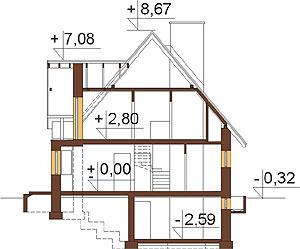 Projekt domu DM-6271 - przekrój