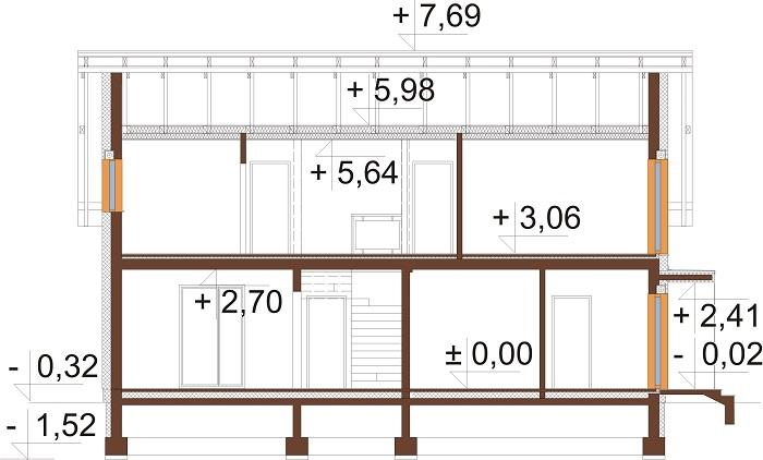 Projekt domu L-6713 - przekrój