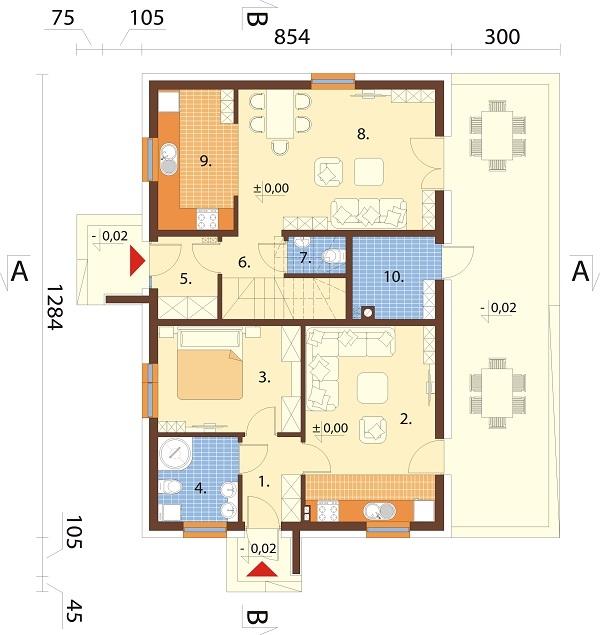 Projekt domu L-6713 - rzut