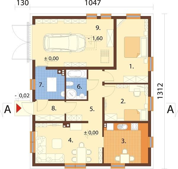 Projekt domu L-6733 - rzut