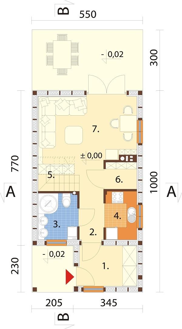 Projekt domu DM-6736 - rzut