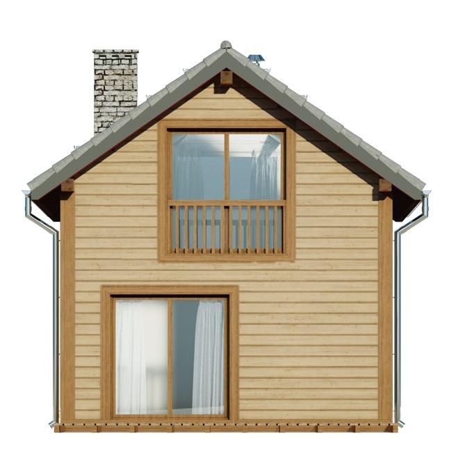 Projekt domu DM-6736 - elewacja