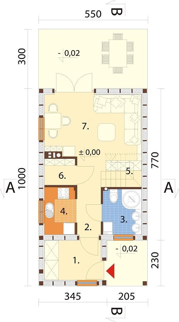 Projekt domu L-6736 - rzut