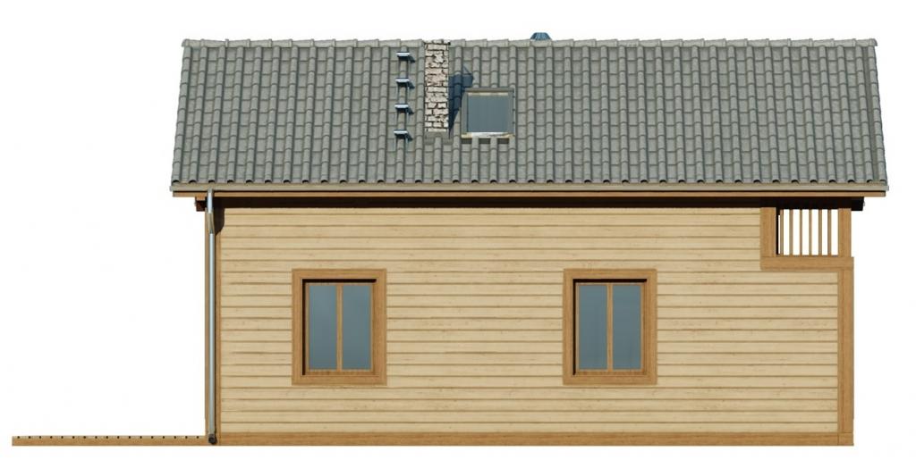 Projekt domu L-6736 - elewacja