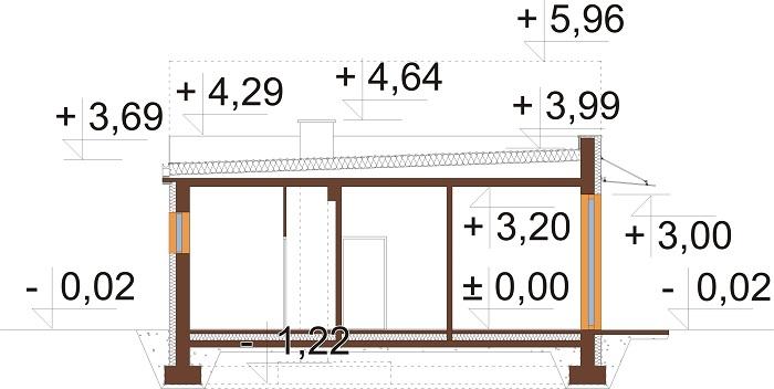 Projekt LK-122 - przekrój