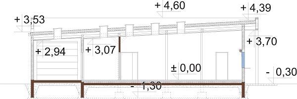 Projekt K-125 - przekrój
