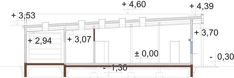 Projekt LK-125 - przekrój