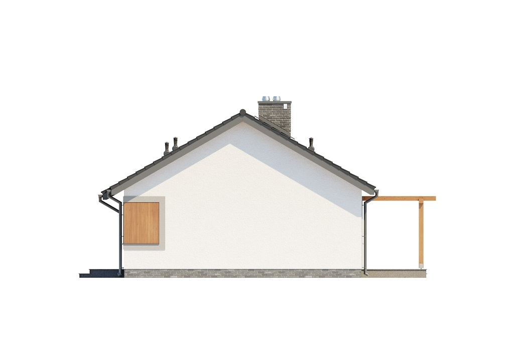 Projekt domu DM-6616 B - elewacja