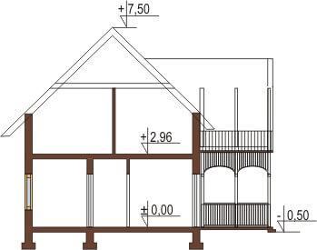 Projekt domu DM-5570 - przekrój