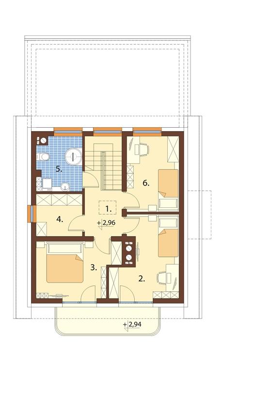Projekt domu DM-6716 - rzut