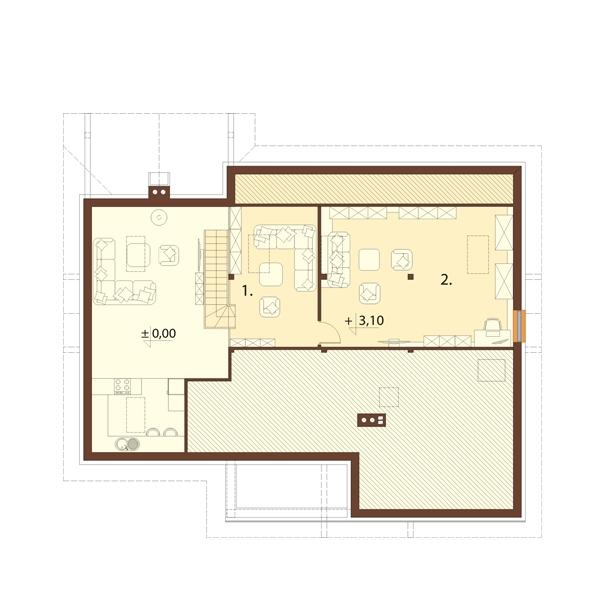Projekt domu L-6712 - rzut
