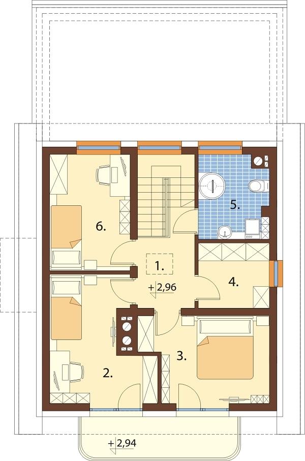 Projekt domu L-6716 - rzut