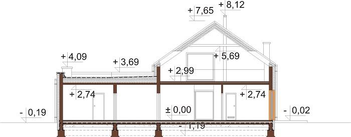 Projekt domu DM-6709 - przekrój