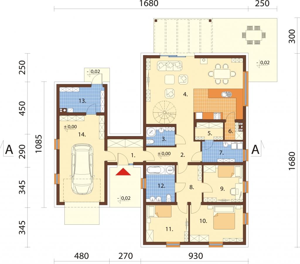 Projekt domu DM-6709 - rzut