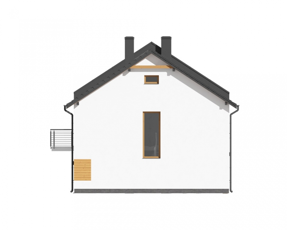 Projekt domu DM-6727 - elewacja