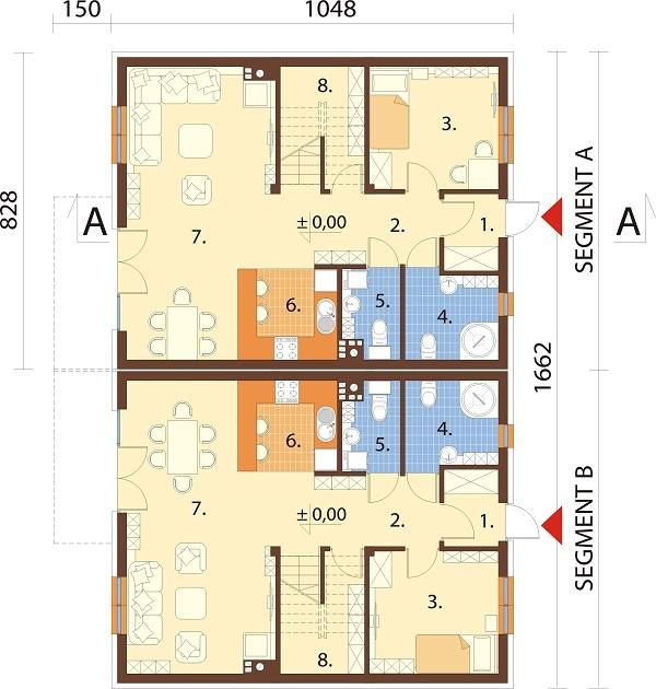 Projekt domu DM-6727 - rzut