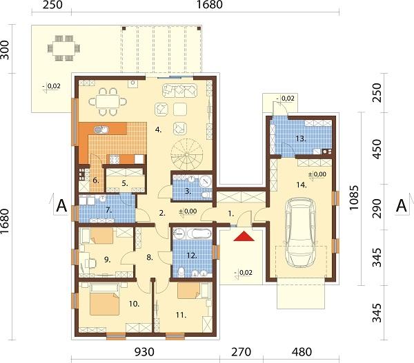 Projekt domu L-6709 - rzut