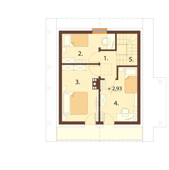 Projekt domu L-6700 - rzut