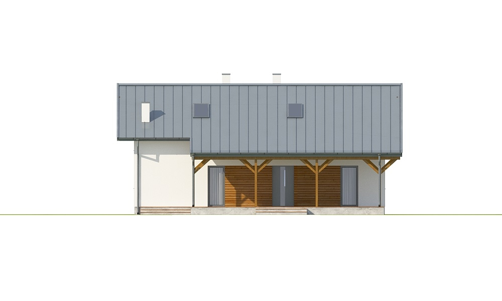 Projekt domu DM-6737 - elewacja