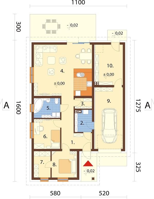 Projekt domu L-6708 - rzut