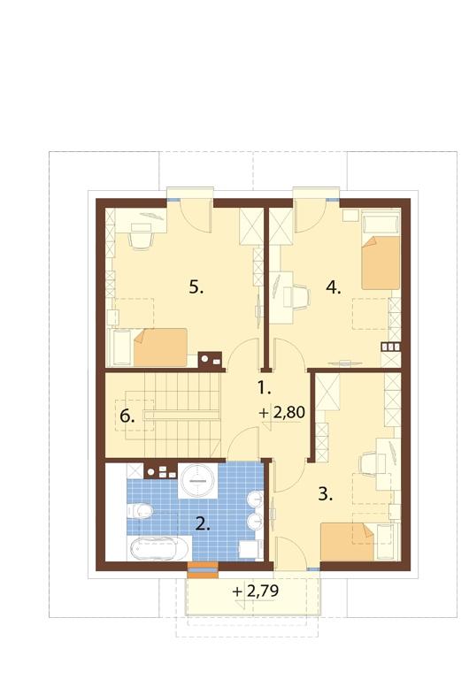 Projekt domu L-6720 - rzut
