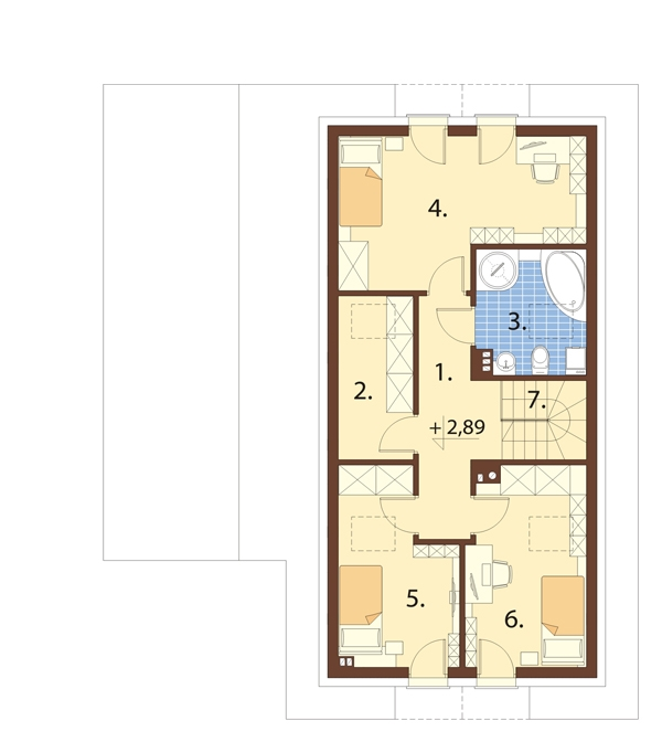 Projekt domu L-6737 - rzut
