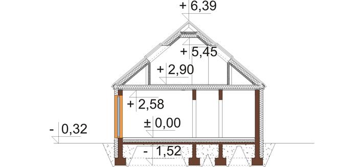 Projekt domu DM-6695 - przekrój