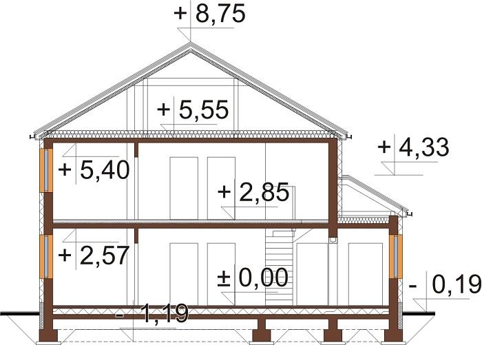 Projekt domu DM-6738 - przekrój