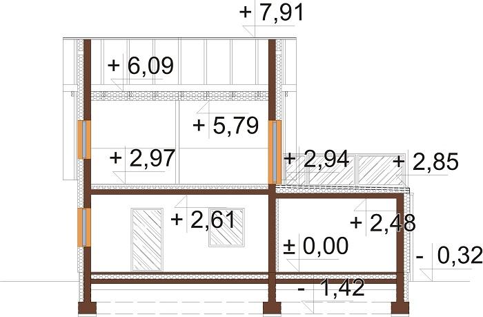 Projekt domu DM-6739 - przekrój
