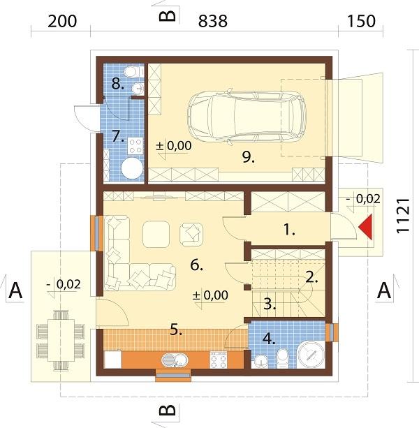 Projekt domu DM-6739 - rzut