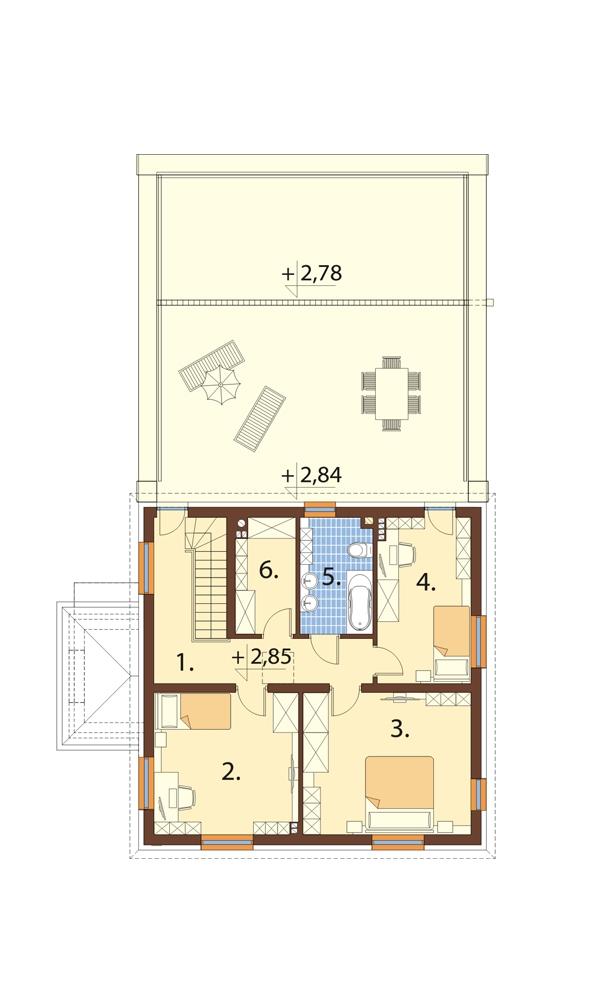Projekt domu L-6738 - rzut
