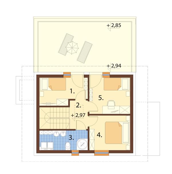 Projekt domu L-6739 - rzut