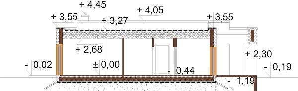 Projekt domu L-6621 B - przekrój