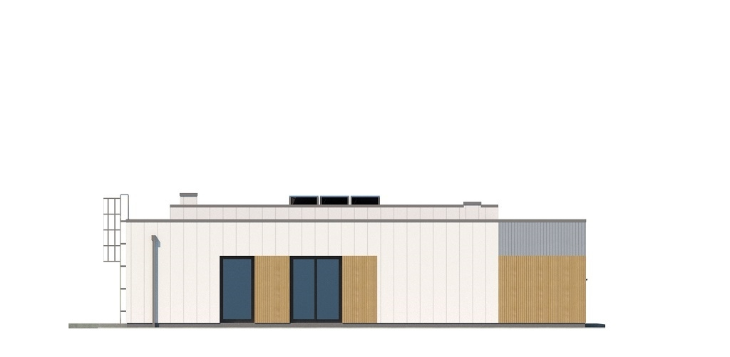 Projekt domu L-6621 B - elewacja