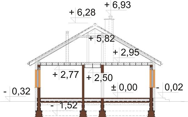 Projekt domu DM-6741 - przekrój