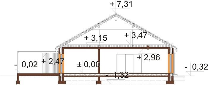 Projekt domu DM-6744 - przekrój