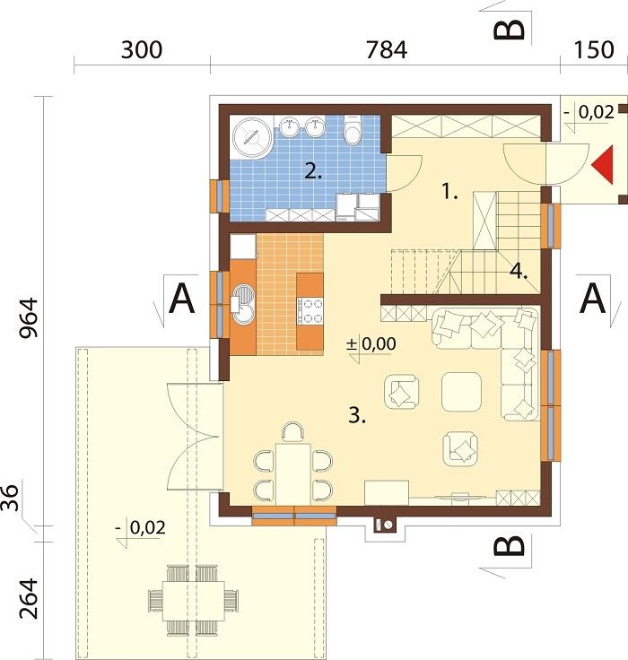 Projekt domu DM-6746 - rzut