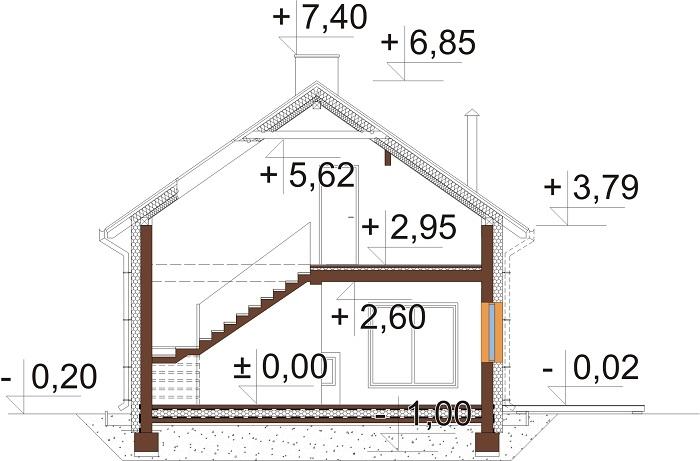 Projekt domu DM-6746 - przekrój