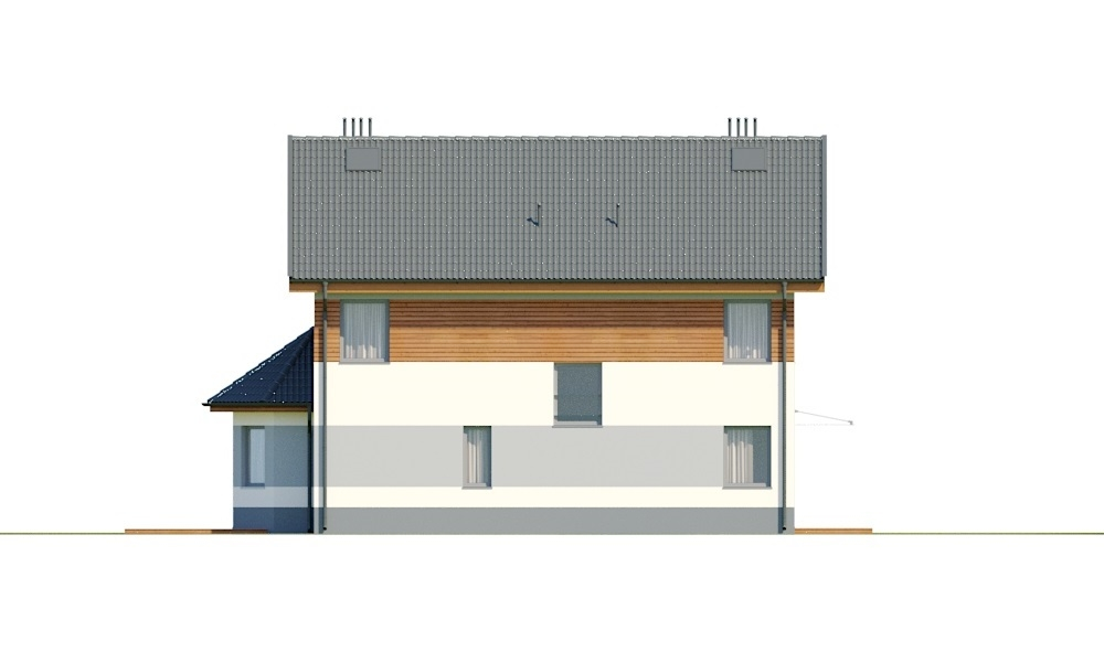 Projekt domu L-6742 - elewacja