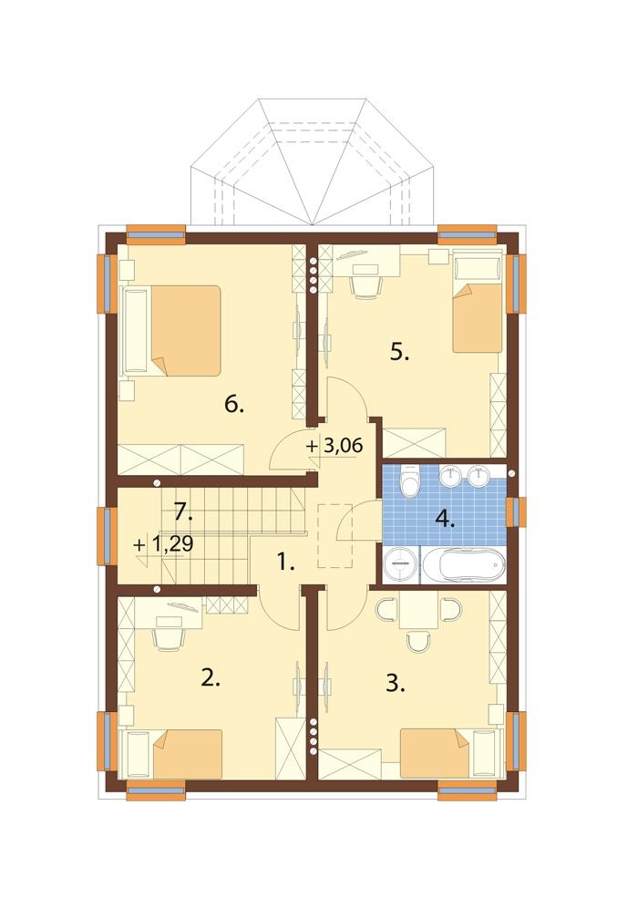 Projekt domu L-6742 - rzut