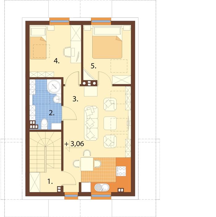 Projekt domu DM-6749 - rzut