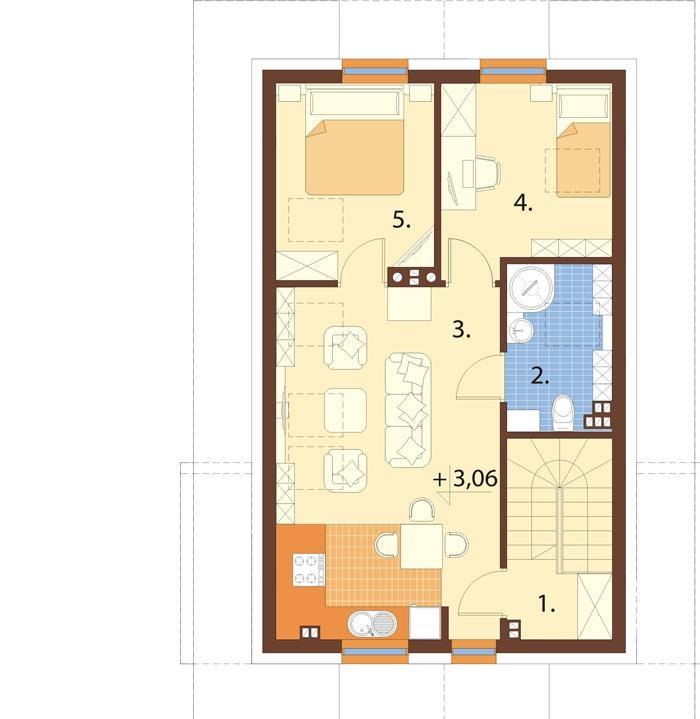 Projekt domu L-6749 - rzut