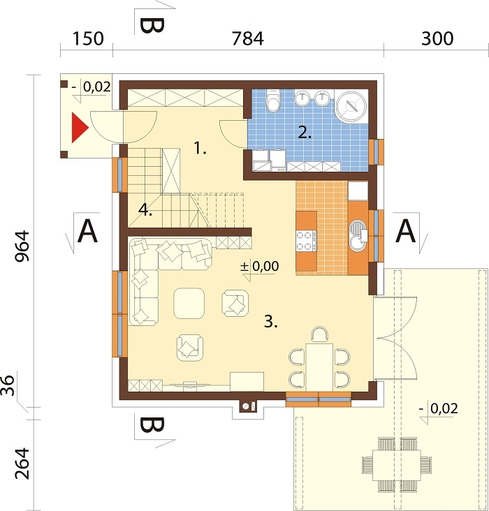 Projekt domu L-6746 - rzut