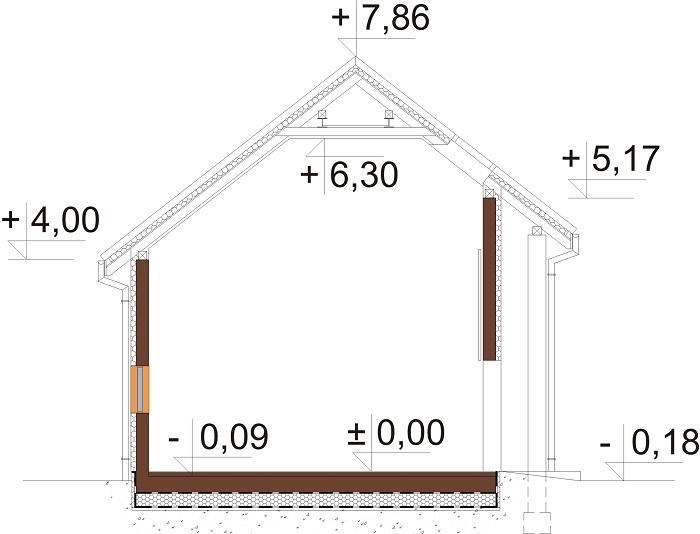 Projekt domu DM-6683 - przekrój