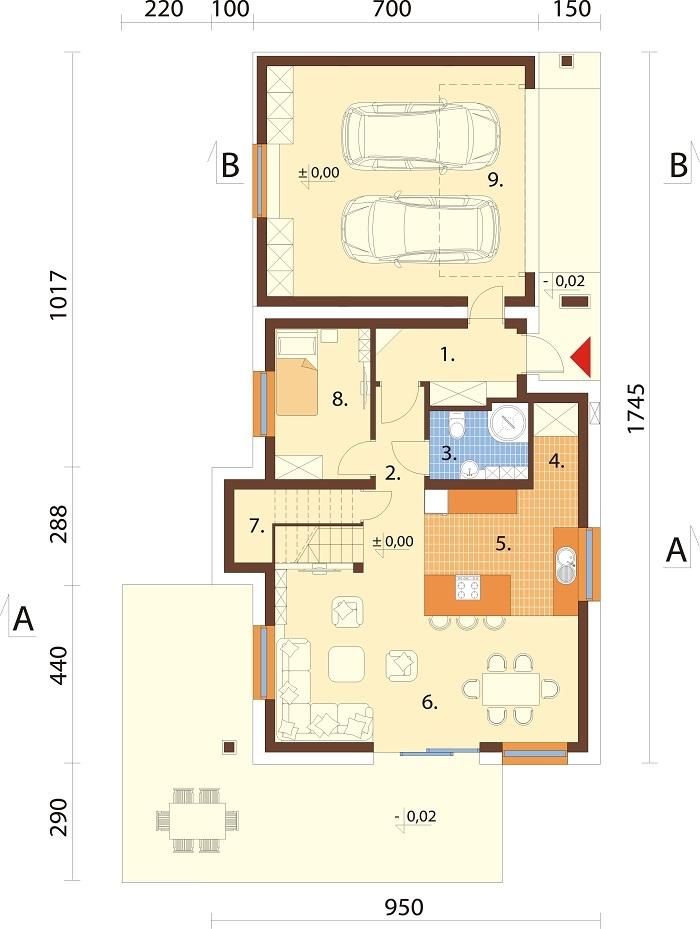 Projekt domu DM-6683 - rzut